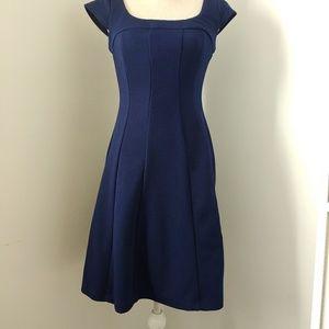 Navy Blue Karin Stevens A-line Dress Size 6